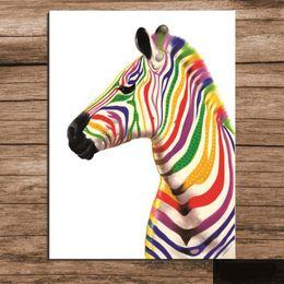 Современная абстрактная зебра онлайн-Обрамленная 100% Ручная роспись Современного Абстрактного Животного Искусства Картина Маслом Зебра, на Высоком Качестве Холст Для Домашнего Декора Стен Несколько размеров