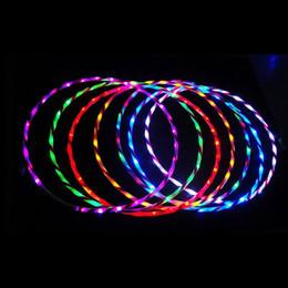 Wholesale Hula Led - Wholesale- 90cm LED Glow Hula Hoop Performance Hoop Sports Toys Loose Weight Toy Kids