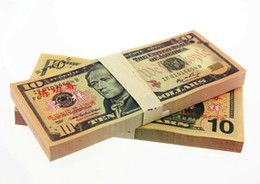 Wholesale Open Type - 100PCS USA $10 BANKNOTES 1:1 Dollars Bank Staff Training Collect Learning Banknotes Arts Gifts Home Arts Crafts