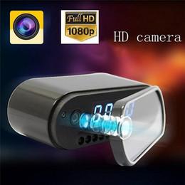 Video monitor de bebê visão noturna on-line-1080 P Night Vision Camera Relógio P2P WIFI mini câmera IP Relógio Despertador Câmera de Exibição Em Tempo Real Gravador De Vídeo Relógio Do Bebê Monitor de 160 Grande Angular