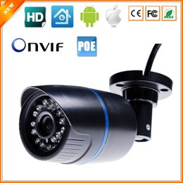 Wholesale Outdoor Ethernet - 48V HD 720P Megapixel IP Camera PoE Power Over Ethernet IR Bullet IP Camera Outdoor Indoor IR Cut 1080P Lens ONVIF ABS Plastic