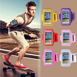 Wholesale Running Pouch Iphone - Waterproof Sport Armband Case for iphone and samsung Gym Running Phone Pouch Cover Arm Band 5.5inch
