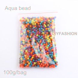 Wholesale Magical Beads - Wholesale- 2016 Aqua beads children's educational toys DIY Magic Beads puzzle Packed magical 100g bag