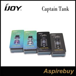 Wholesale Design Contacts - iJoy Captain Tank Sub Ohm Tank 4ML Capacity Gold Plated 510 Contact Pin Top Fill Design with Twist Off Cap Dual Airflow Slots 100% Original