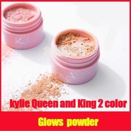 Wholesale Natural Collection Foundation - 2017 Newest Kylie Jenner The 20th Birthday Collection Queen & King 2 versions Ultra Glow Loose Powder foundation highlighter free shipping