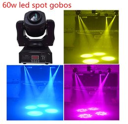 Wholesale Good Led Spot Lights - Wholesale-New 60w gobos spot led moving head light 7 colors 7 differnt stage spots light good for ktv wedding