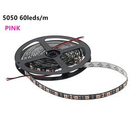 Wholesale Home Car 12v - 5050 SMD Pink Color Led Strip Light Non-waterproof 5M 300LEDs DC12V Flexible Light Tape Lamp For Car and Home lighting