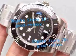 Wholesale mens diving - Top Noob Factory V8 Version Mens Automatic Eta 3135 Watch Men Black Ceramic Bezel Luminous Calendar Sapphire Sport Dive Swiss Steel Watches