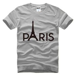 Wholesale Champagne Towers - Creative Paris Eiffel Tower Printed Mens Men T Shirt T-shirt Fashion 2017 New Short Sleeve O Neck Cotton Tshirt Tee