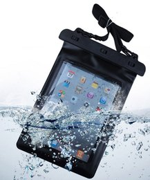 Wholesale Tablet Ipad Bag - Black 100% Waterproof Tablet Pouch Dry Bag Sleeve Case High Quality Protection Carrying Bag For iPad Tablet Electronic Gadget Accessory