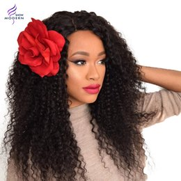 Wholesale Weave Lengths - Modern Show Brazilian Kinky Curly Hair Weaves 100% Virgin Human Hair Extensions Natural Black 1B# Hair Extensions 4Bundles Mixed Lengths