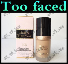 Wholesale Normal Water - 3PCS Factory direct concealer 2017 new concealer toofaced BORN THIS WAY liquid foundation free delivery
