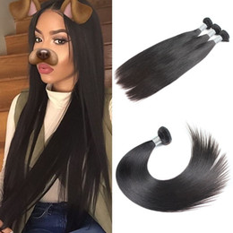 Wholesale Only Products - Uglam Products 1 Bundle Peruvian Virgin Hair Straight Bundles Factory Outlet Price Cheapest Price 4Sesons beauty Free Shipping Sexy Formula