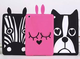 Wholesale Ipad Mini Case Zebra - Dog zebra puppy rabbit 3D Cover Soft Silicone Case mini 4 7.9 inch for ipad mini 4 3 2 1