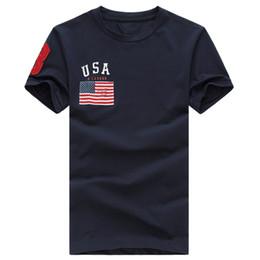 Banderas de alta calidad online-Envío gratis 2017 de algodón de Alta calidad nueva O-cuello de manga corta camiseta de la marca de los hombres camisetas Casual de la bandera para los hombres de deporte polo T-shirt
