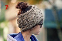 Wholesale Cheap Crochet Headband - Hairband Women Crochet Headband Knit Flower Ear Fashion Winter Warm Adjustable Headwrap Cheap Popular Red Black Green Gray Khaki A115
