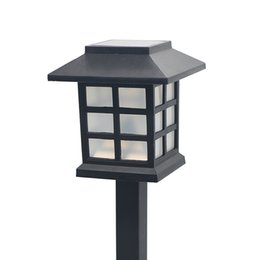 Argentina Impermeable Blanco LED Solar Paisaje Casa de Estilo Luz al aire libre Garden Lawn Yard Puerta Park Square Decoración Lámparas cheap solar lights for yard decorations Suministro