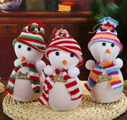 Wholesale Friends Man Bag - Cute Snow Man Cover Apple Small Bags Christmas Dinner Table Party Decoration Supplies Xmas Gifts For Home Family Friend