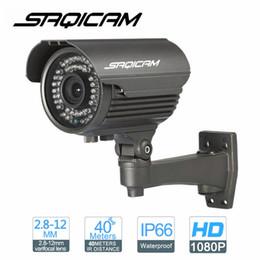 Wholesale High Resolution Ir Lens - Saqicam New 1920x1080 Pixels Super HD 1080P High Resolution Security Bullet IP Camera 42pcs IR LED 2.8-12mm Varifocal Lens ONVIF