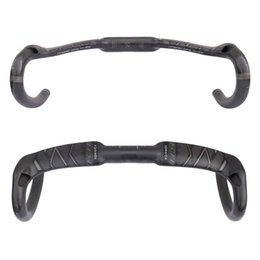 Wholesale Carbon Bike Handlebars - 2017 FCFB Full Carbon Fiber Road Handlebar Bicycle Bend Handle Bar Carbon Road Handlebar UD Matte 31.8*400 420 440mm RT800