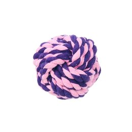 Wholesale Toy Ball Colourful - Hot Selling things Simple Cotton Knotted Rope Safe with Ball Shape Colourful and healthy Dog Toy