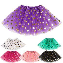 Saias de bolha do bebê on-line-Baby Polka Dot Glitter Ballet Tutu Saia Dance Candy Color Crianças Tutus Saia da bolha Vestidos de Dança Ballet Saia Ballet Pettiskirt Roupas