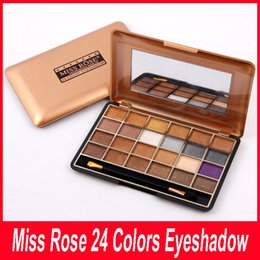 Wholesale Miss Rose Palette - Authentic HOT SALE Miss Rose 24 Colors Shimmer Eyeshadow Palette Professional Eye Shadow Makeup Palette Natural Eye Cosmetic