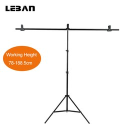 Wholesale Backdrop Pvc - Wholesale- 152cm X 200cm Photography PVC Backdrop Background Support Stand System Metal with 3 clamps