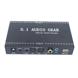 Wholesale ac gears - Freeshipping 5.1 Audio Devices Digital Decoder Converter Audio Gear DTS AC-3 to 5.1 Digital Audio Converter