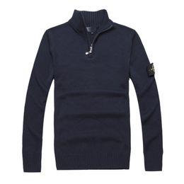 Wholesale Half Sweaters Sale - 2017 Italy Sweden South Korea HOT SALE Island men's long sleeve half zipper sleeves stone sweater cotton