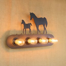 Wholesale Lighted Coffee Signs - Replica designer industrial style letter sign animal Wall Light lamp Sconce Fixtures illumination for bedside bar coffee shop