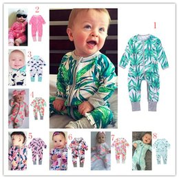 Wholesale Babies Wear Wholesales China - 16 styles INS cotton infant clothing from china baby wears romper new fashion baby long sleeve jumpsuits b