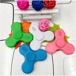 Wholesale Bluetooth Speakers Blue Box - Newest Bluetooth LED Music Spinner Wireless Speaker Fidget Spinner New Arrival EDC Toy for Decompression Hand Spinner with Retail Box