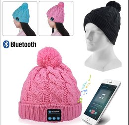 Wholesale Street Headphones Wireless - Soft Warm Beanie Hat Wireless Bluetooth Headphones Smart Headphone Headset Speaker Bluetooth hat With Mic KKA2844