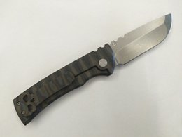 2019 cuchillos hechos a medida Nuevo Chaves Custom CHINA Made Redencion Cuchillo plegable D2 Bead Blasted Punto de gota Hoja Burn Quemaduras de titanio EDC Herramientas tácticas Envío gratis