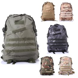 Wholesale Molle Pack Bag Backpack - 2017 3D Molle Gear travel back pack Camping Backpack trekking Military Sport Bags Hiking backpacks Camouflage Canvas rucksack