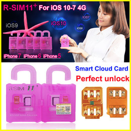 Wholesale Unlocked Sim Cards - R-SIM11+ perfect unlock For IOS10 -IOS7 Rsim 11 plus Rsim 11+ Unlock SIM Card for iphone 7 7p 6plus 6s 5s Support LTE 4G 3G Sprint AT&T T-mo
