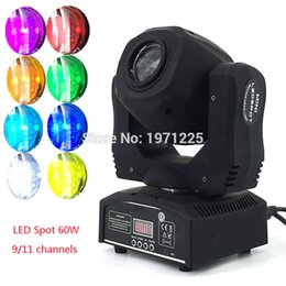Wholesale Moving Head Gobo - Wholesale-Fast&Free Shipping Moving Head Light 60W LED Spot Light with gobo&color wheel 9 11CHs for Disco DJs Equipmentnt