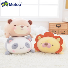 Wholesale Plush Soft Lion - Metoo Cartoon Animal Plush Toys Stuffed Dolls Cute Soft Lion Panda Doll Rabbit Bear Pillow Baby Kids Gift for Boys Girls Friends