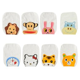 Wholesale Cotton Animal Shape Towel - Wholesale- 5 Pieces Baby 4 Layers Scapegoat Towel 100% Cotton Baby Soft Suction Cute Character Animal Shapes Separated Hanjin Size 22x32 cm