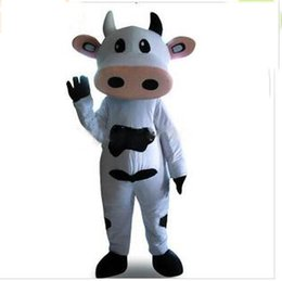 Wholesale Cow Halloween Costumes Adult - 2017 New mesure mascot cheap Real Pictures Deluxe dairy cattle Toro Bull Betsy Cow Mascot costume Adult SIZE Halloween Easter party custom