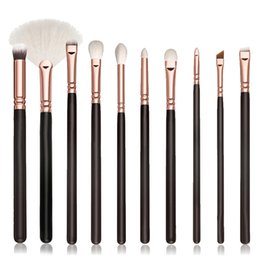 Wholesale Wood Presses - Free Shipping Pressed Blush Powder Makeup Brushes 10pcs Package With Lowest Price High Quality Brushes In Stock