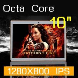 Wholesale 3g Camera Usa - Tablet PC 10 polegada Octa Nuclei 1280X800 32GB DDR3 4GB RAM 5.0MP Camera 3G WCDMA + GSM SIM Card android5.1 tablet PCs