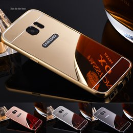 Wholesale Galaxy S3 Back Cover Metal - Mirror Case For Samsung galaxy S7 S7 Edge S6 Edge S4 S3 S5 Plating Metal Aluminum Back Cover For Samsung S7 Edge Case