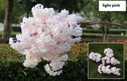 Wholesale Artificial Blossoms - Artificial cherry blossom multi-color optional wedding decoration sakura 39 Inch 100 cm long free shipping WQ20