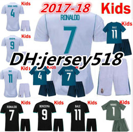 Wholesale Shirt S - 17 18 Real Madrid kids soccer jersey kits child jerseys kits 2017 RONALDO Asensio SERGIO MODRIC RAMOS MARCELO BALE ISCO football shirts