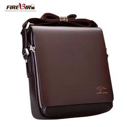 Wholesale Men Bags Kangaroo - Wholesale-Famous Brand Kangaroo Casual Business Men's Leather Messenger Bags,6 Size Large Men Shoulder Bag,Leisure Men Briefcase L119