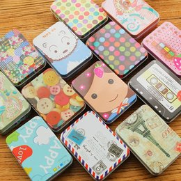 Wholesale Mini Bag New Candy - New Creative Wedding Candy Boxes Cute Case Mini Jewelry Storage Box Chocolate Storage Tin Tinplate Coin Bags Sweet Gifts for Girls 12pcs lot
