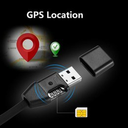 Wholesale China Wholesale United States - New Remote Tracking USB Cable GPS Tracker HS8 Miniature Anti-lost Tracker Vehicle Car GPS Locator USB Data for Android ios plug