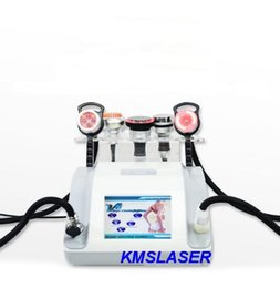 Wholesale Head Photo - 5 heads 40KHZ ultrasonic liposuction 1MHZ RF radio frequency photo facial skin lifting weight loss home salon use machine